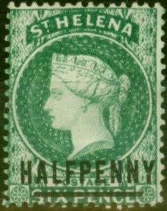 St Helena 1885 1/2d Green SG35 Words 14.5mm Fine Mtd Mint
