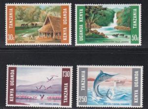 Kenya Uganda Tanzania # 251-254, Dolphins, NH, 1/2 Cat.