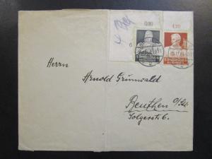 Germany 1934 Cover w/ Semi Postals / Light Fold - Z6371