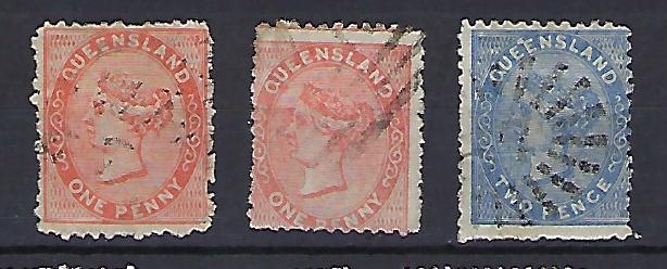 Queensland Scott #57a, 57b & 58 used