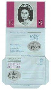 1977 GB Aerogramme Cover QUEEN ELIZABETH II SILVER JUBILEE Stationery UNUSED