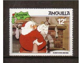 Disney - Anguilla -1981 - Christmas Single MNH