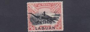 LABUAN  1904  S G 132   4C ON 12C  MH