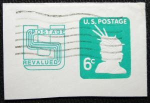 US #U561 Used Full Corner Cut Square, Statue of Liberty L3