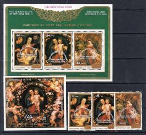 Cook Islands Scott B100-B104 Mint NH (Catalog Value $49.75)