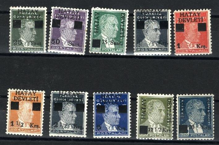 Hatay #2-11   Mint VF 1939  PD