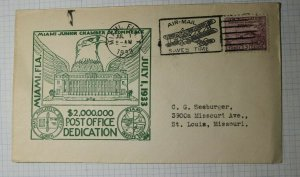 $2,000,000 Post Office Dedication Miami Junior Chamber of Commerce 1933