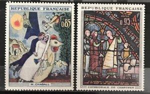 France 1963 #1076-7, MNH, CV $1.60