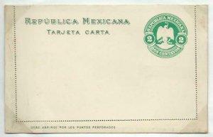 MEXICO 2c lettercard 1904 unused...........................................58759