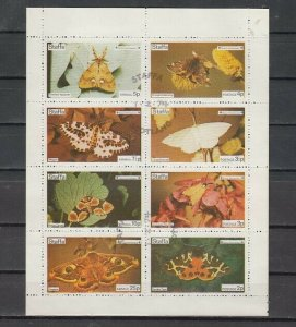 Staffa Local. 1974 issue. Butterflies sheet of 8. Scout Anniv. on sheet. USED. ^
