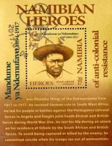 Namibia - 2017 Heroes Mandume yaNdemufayo MS Used