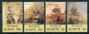 St Kitts 2005 MNH Battle of Trafalgar 200th Anniv Imperieuse 4v Set Ships Stamps