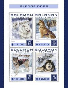 SOLOMON ISLANDS 2016 SHEET SLEDGE DOGS slm16404a