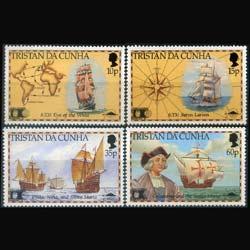 Tristan da Cunha MNH 504-7 Columbus Discovery America 1992