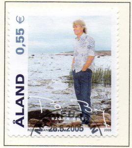Aland Finland Sc  236 2005 Bjorn Borg stamp used