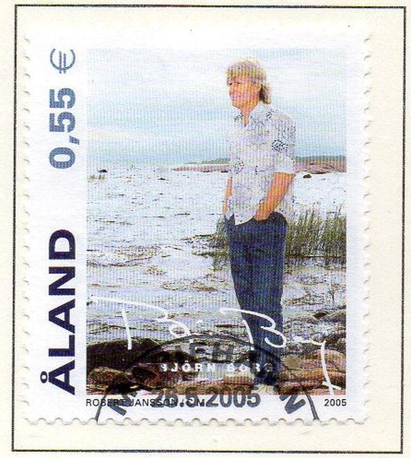 Aland Finland Sc  236 2005 Bjorn Borg stamp used