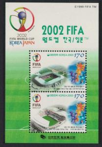 Korea World Cup Football Championship 2002 5th issue MS SG#MS2451 CV£10+
