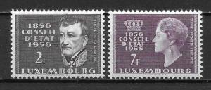 Luxembourg 322-23 100th Council of State set MNH