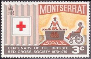 Montserrat # 227 mnh ~ 3¢ Red Cross Centenary