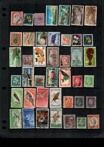 New Zealand  MH  and used lot of 41