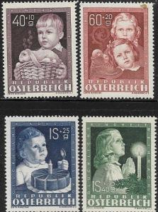 Austria 1949 Child Welfare SC# B260-B263 MLH Fine  s2g