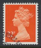 Great Britain SG X964 Sc# MH120    Used with first day cancel - Machin 22p