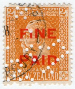 (I.B) New Zealand Revenue : Fine Paid 2d