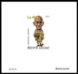 SIERRA LEONE SHEET IMPERF GANDHI NOBEL PRIZE