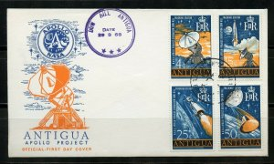 ANTIGUA 1968 APOLLO PROJECT SPACE SET ON FIRST DAY COVER