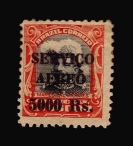 MANUEL HERMES MILITARY HAT BRAZIL EARLY AIR MAIL STAMP #C14 CV$33