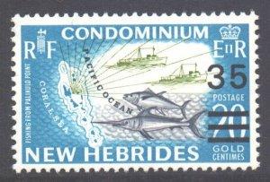 Vanuatu New Hebrides Scott 141 - SG144, 1970 35c on 20c MNH**