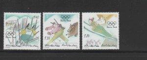LIECHTENSTEIN #1334-1336  2005  WINTER OLYMPICS TURIN    MINT  VF NH  O.G