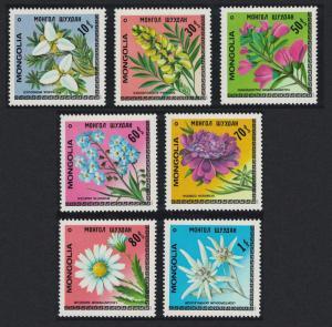 Mongolia Flowers 7v SG#1189-1195