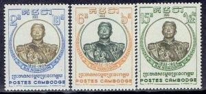 Cambodia, Scott #68-70; King Norodom I, MH