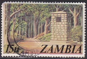 Zambia 143 Hinged Used 1975 Zambezi River Source, Monument