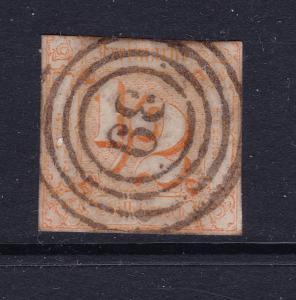 Thurn & Taxis a used 0.5Sgr imperf from 1862