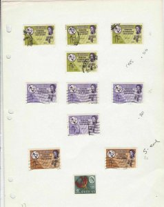 rhodesia 1965 stamps ref 11217