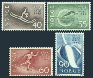 Norway 486-489,MNH.Michel 537-540. World Ski Championships,1966.