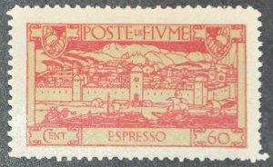 DYNAMITE Stamps: Fiume Scott #E12 – MINT