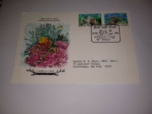 British Virgin Islands 1978 Coral First Day Cover