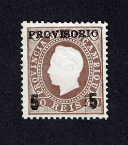 Mozambique 1893 D. Luis I Local overprint #27 MNG