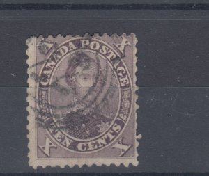 10 cent #17 4 RING NUMERAL #22 NAPANEE NICE strike RF 4 very scarce Canada used