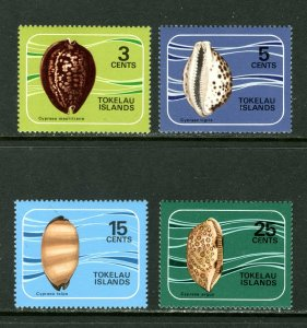 Tokelau MNH 41-4 Cowrie Shells 1974