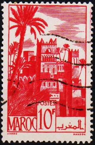 Morocco(French). 1947 10f S.G.332a Fine Used