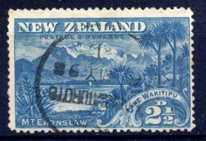 New Zealand 1898 sg 249 2 1/2d blue, fine used