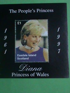 SCOTLAND STAMP- 1997-PRINCESS OF WALES- DIANA WITH THE PURPLE DRESS-MINT-NH  S/S