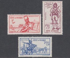 Ivory Coast B12-B14 MLH CV $4.50