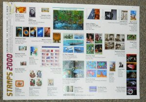 2000 stamp flyer USPS 11 X 16 full year stamp commemorative issues