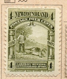 Newfoundland 1897 Early Issue Fine Mint Hinged 4c. NW-11931