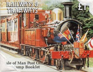 Isle of Man Sc 458b 1991 Trains stamp booklet mint NH